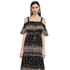 New BCBG Off Shoulder Maxi Dress